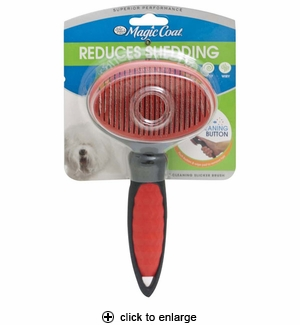Four Paws Magic Coat Self-Cleaning Slicker Brush