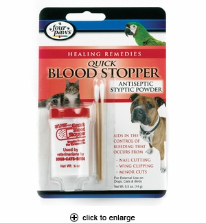 Four Paws Quick Blood Stopper Styptic Powder 0.5oz