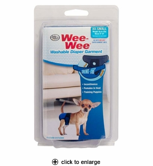 Four Paws Wee-Wee Diaper Garment XX-Small
