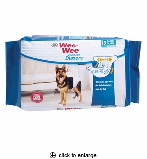 Four Paws Wee-Wee Disposable Dog Diapers Large/X-Large 12pk