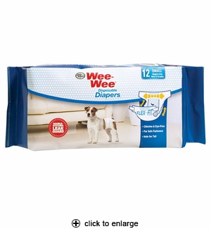 Four Paws Wee-Wee Disposable Dog Diapers Small 12pk
