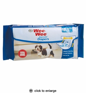 Four Paws Wee-Wee Disposable Dog Diapers X-Small 12pk