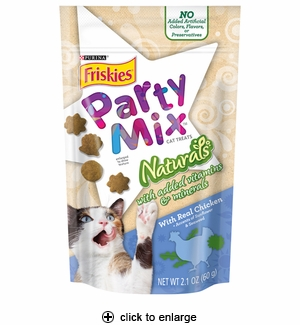 Friskies Party Mix Naturals Cat Treats Chicken 2.1 oz