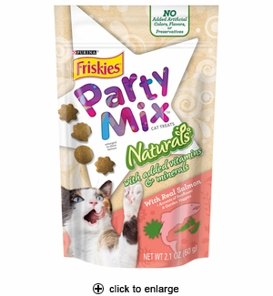 Friskies Party Mix Naturals Cat Treats Salmon 2.1 oz