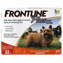 Frontline Plus For Dogs Flea & Tick Control Up to 22 lbs, 3pk