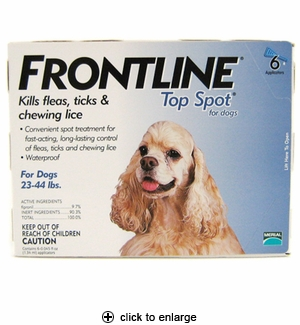 Frontline Top Spot for Dogs Flea & Tick Control 23-44 lbs, 6pk