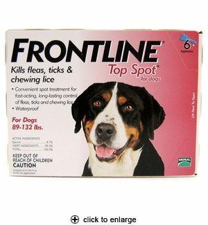 Frontline Top Spot for Dogs Flea & Tick Control 89-132 lbs, 6pk