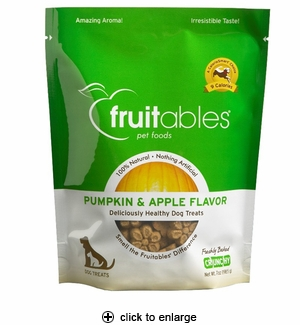 Fruitables Pumpkin & Apple Mix Dog Treats 7 oz