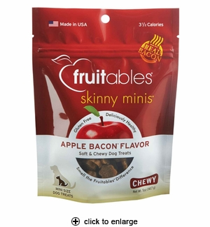 Fruitables Skinny Minis Apple Bacon Dog Treats 5oz