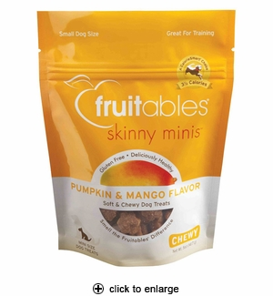Fruitables Skinny Minis Pumpkin & Mango Dog Treats 5oz