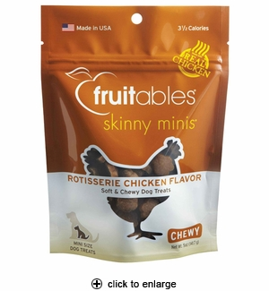 Fruitables Skinny Minis Rotisserie Chicken Dog Treats 5oz