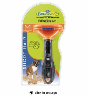 FURminator deShedding Tool for Short Hair Dogs Medium