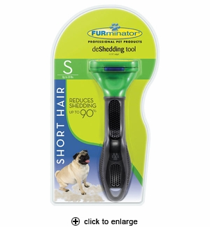 FURminator deShedding Tool for Short Hair Dogs Small