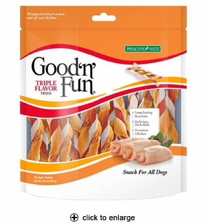 Good 'n' Fun Triple Flavor Twists 35pk