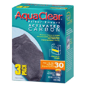 Hagen AquaClear 30 Activated Carbon Insert 3pk #A-1382