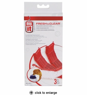 Hagen Dogit Fresh & Clear Replacement Purifying Filters 3pk