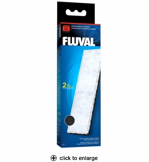Hagen Fluval U3 Filter Poly/Carbon Cartridge 2pk #A-491