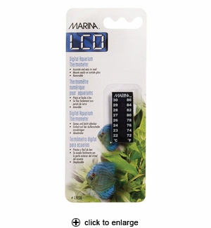 Hagen Marina LCD Digital Aquarium Thermometer, 1.75