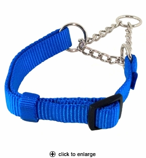 Hamilton Combo Nylon & Chain Martingale Dog Collar 18