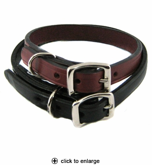 Hamilton Creased Leather Dog Collar 1/2