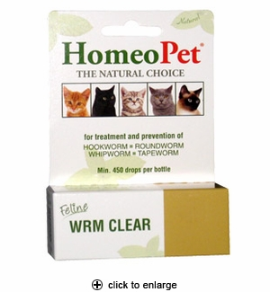 HomeoPet Wrm Clear for Cats 15ml