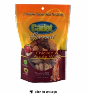 Cadet Chicken & Apple Wraps Dog Treats 3oz