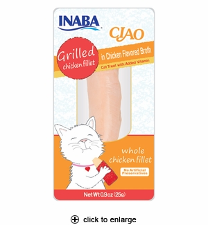 Inaba Ciao Grilled Chicken Fillet in Chicken Broth 0.9oz