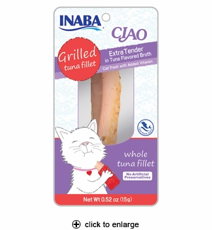 Inaba Ciao Grilled Tuna Fillet Extra Tender in Tuna Broth 0.52oz