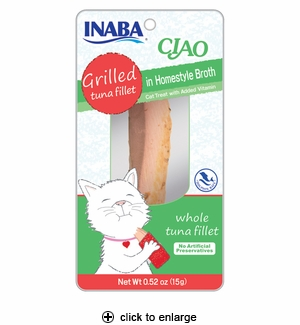 Inaba Ciao Grilled Tuna Fillet in Homestyle Broth 0.52oz
