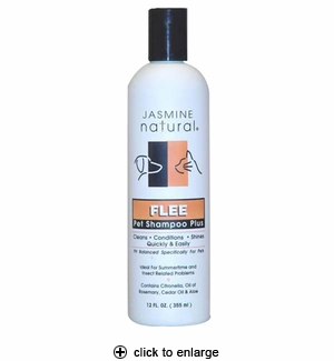 Jasmine Natural Flee Pet Shampoo Plus 12 oz