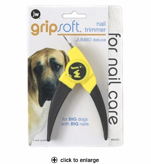 JW Pet GripSoft Nail Trimmer Jumbo Deluxe for Dogs