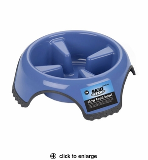 JW Pet Skid Stop Slow Feed Bowl Medium