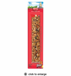 Kaytee Fiesta Fruit & Veggie Treat Stick Cockatiel 4 oz