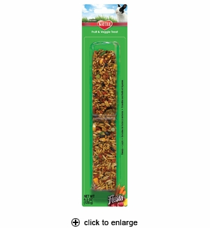 Kaytee Fiesta Fruit & Veggie Treat Stick Rabbit 4.5 oz