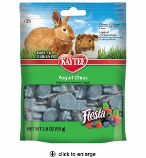 Kaytee Fiesta Yogurt Chips for Rabbits & Guinea Pig 3.5oz