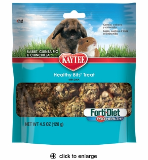 Kaytee Fort-Diet PH Healthy Bits for Rabbit, Guinea & Chinchilla 4.5oz