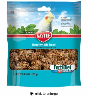 Kaytee Forti-Diet PH Healthy Bits Treat for Cockatiels 4.75oz