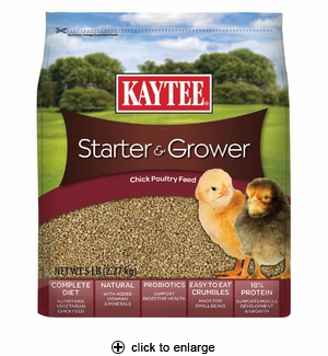 Kaytee Starter & Grower Chick Poultry Feed 5 lbs