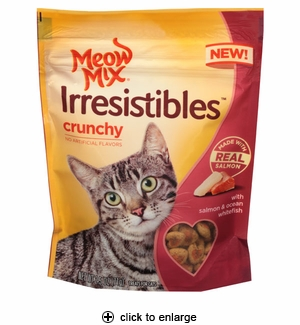 Meow Mix Irresistibles Crunchy Cat Treats Salmon 2.5oz