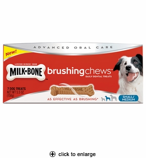 Milk-Bone Brushing Chews Dental Treats Small/Medium 7ct