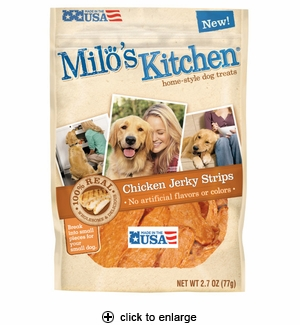 Milo's Kitchen Chicken Jerky Strips Dog Treats 2.7oz