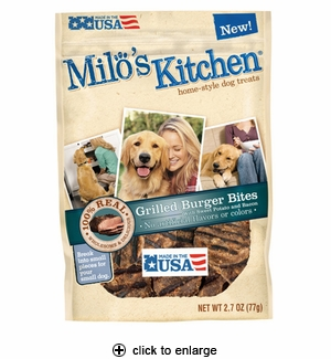 Milo's Kitchen Grilled Burger Bites Dog Treats 2.7oz