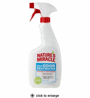 Nature's Miracle 3in1 Odor Destroyer Fresh Linen 24oz