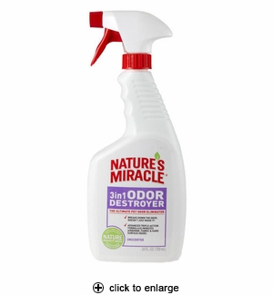 Nature's Miracle 3in1 Odor Destroyer Unscented 24oz