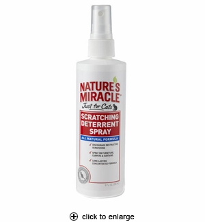 Nature's Miracle Just for Cats Scratching Deterrent Spray 8oz