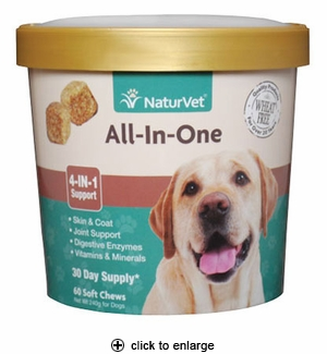 NaturVet All-In-One Soft Chews for Dogs 60ct