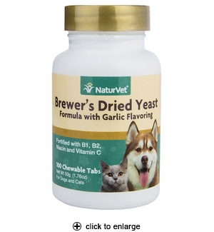 NaturVet Brewer's Yeast & Garlic Tablets for Dogs & Cats 100ct