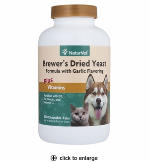 NaturVet Brewer's Yeast & Garlic Tablets for Dogs & Cats 500ct