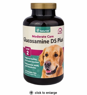NaturVet Glucosamine DS with MSM & Chondroitin Tablets 120ct