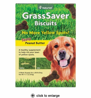 NaturVet GrassSaver Biscuit for Dogs 11.1 oz